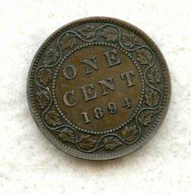 Canada  ~ 1894 ~ Large Cent ~ Xf
