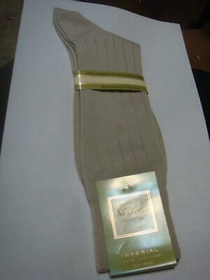Vannucci Courute Socks Mens 10 - 13 Beige Sand Tan Stone Cotton Nylon