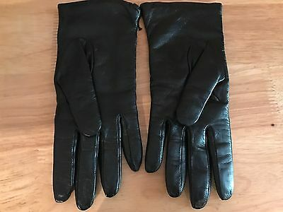 Mark and Graham Italian Leather Cashmere Classic Women's Gloves size 7 CPK NWOT