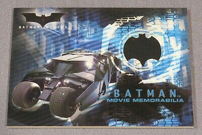 "Topps Batman Begins  authentic ""FRONT TIRE FROM THE BATMOBILE"" card Topps s05"