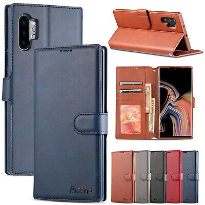 For Samsung Galaxy Note 10 Plus Note 98 Leather Wallet Case Card Slot Flip Cover
