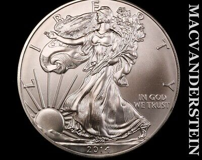 2014 American Silver Eagle-Choice Gem Brilliant Uncirculated No Reserve #L1521