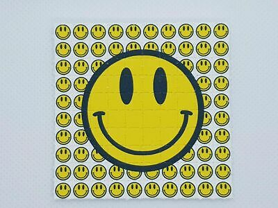 Smiley Face mini Blotter Art - HD 10x10 no LSD no ACID, Smiley Rave Trippy Art