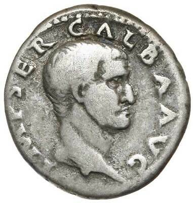 GALBA, (July 68 - January 69 A.D.), silver denarius. Rome Mint, Fine.