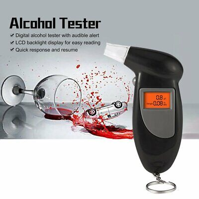 NEW Police Digital Breath Alcohol Tester LCD Breathalyzer Analyzer Detector nE
