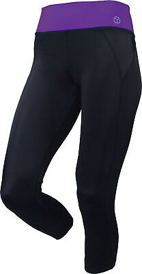 Grey OgiYogi Reversible 3//4 Capri Womens Training Tights