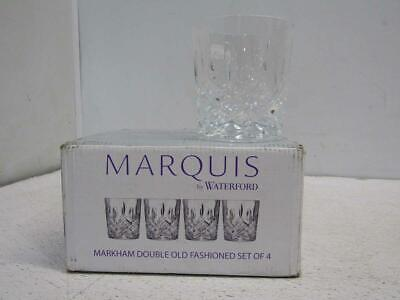 Marquis by Waterford Markham Crystal Double Old-Fashioned Glass 11oz Set of 4