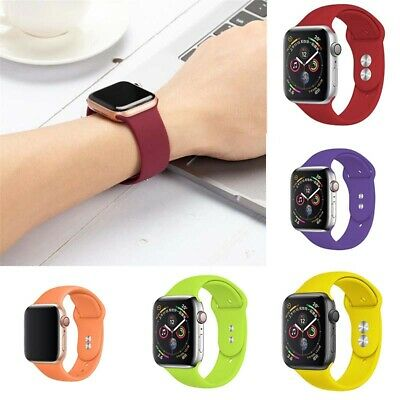 Silicone for Apple iWatch Band Strap Watch 5 38/42/40/44mm Sports Series 3 4 2 1