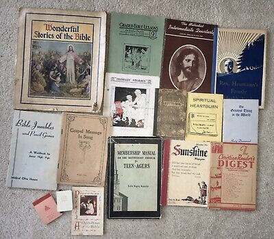LOT of 15 Vintage Religious Booklets 1860 Life of Christ Gospel Songs 1950s