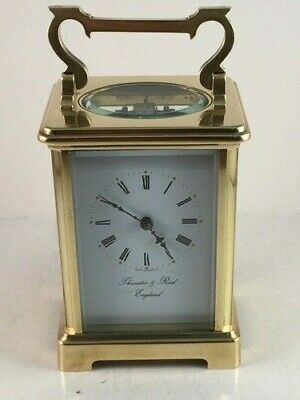 Classic antique brass carriage clock & key. Restored and serviced December 2019