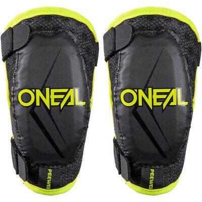 O'Neal Pee Wee Kids Motocross MX Bike Elbow Guards Arm Protection - Neon Yellow