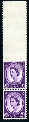1958 MULTIPLE CROWNS 3d COIL LEADER PAIR, FINE UNMOUNTED MINT