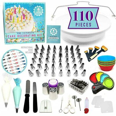 Cake Decorating Tools Kit Turntable Pastry Nozzles For Cream Confectionery Bags