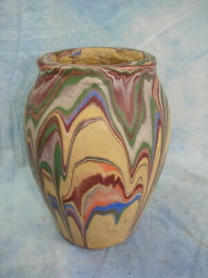 "Roadside Pottery Vase Ozark Missouri Tan 10"" Unique"