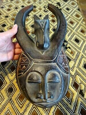 A Decorative Well carved Ethnic Wooden Tribal Mask II