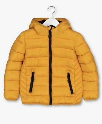 Girls Ladies Brand New With Tags Mustard Yellow Puffer Coat 13-14 Yrs Size 10