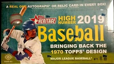 2019 Topps Heritage High Number Hobby Box - Factory Sealed = 1 Hit