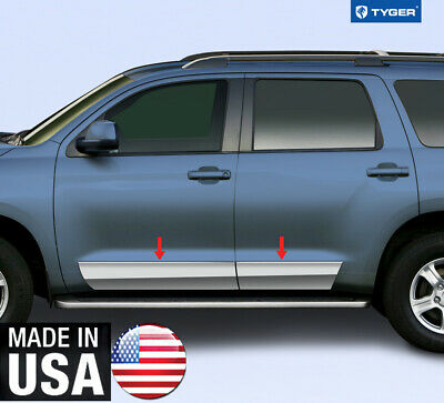"""Stainless Steel 8/"""" Wide Full Length Rocker Panel 4PC Fits Toyota Sequoia  07-16"""
