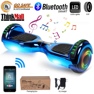 """6.5""""Bluetooth  Hoverboard Self Balancing Scooter UL2272 LED Purple Without Bag"""