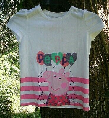 Peppa Pig Girls Top NWT size 3T pink white balloons cartoon character tv show
