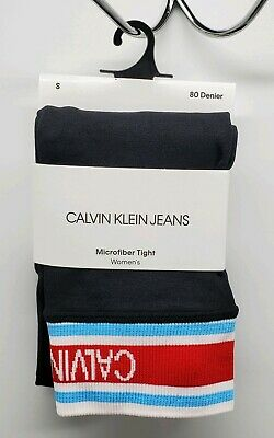 Calvin Klein Jeans Microfiber Tight Leggings Womens S NEW 80 Denier ACF645 NWT