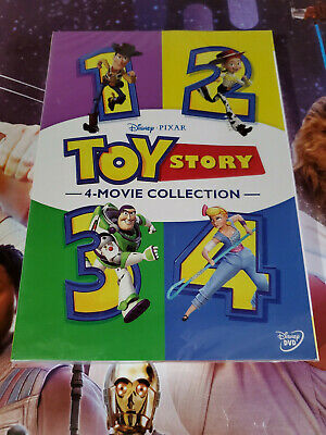 Toy Story 1-4 All 4 Disney Pixar Movies Included! Brand New Box Set 1 2 3 4