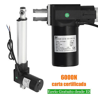 Eléctrico Cilindro Actuador Lineal MOTOR 6000N/1280LBS  200mm/8 inch  4mm/s