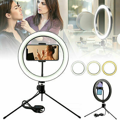 26cm LED Ring Light with Stand for Youtube Tiktok Makeup Video Live Phone Selfie