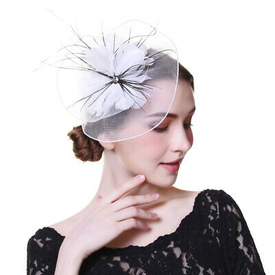 Ladies Flower Hair Clips Feathers Hat Fascinators Royal Ascot Race Wedding Party