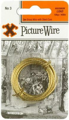 No.3 Brass Picture Wire, 3m - X 12838