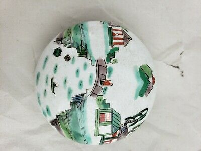 Great old chinese hand painted porcelain box