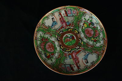 "Great old Chinese Famille Rose saucer 5"", part of collection [Y8-W7-A9]"