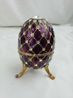Faberge Egg Decorated with Swarovski Crystals Home Decor Collectors