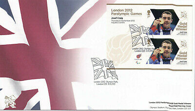 (40412) GB FDC Josef Craig London Paralympic Games minisheet 2012