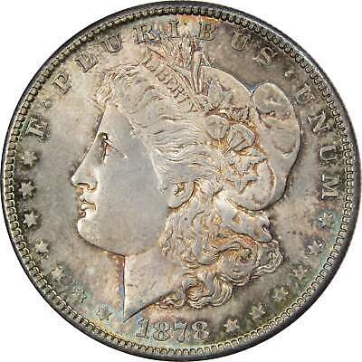 1878 S $1 Morgan Silver Dollar US Coin BU Uncirculated Mint State Toned