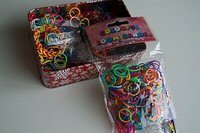 Glow in The Dark LOOM BANDS /& S clip connectors /& hooks 18000 Bulk 60 packets