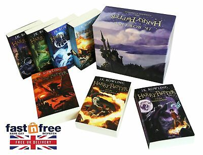 Harry Potter 7 Books The Complete Collection Boxed Gift Set NEW J. K. Rowling UK