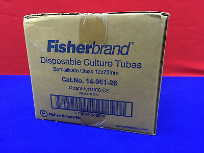 1 Package Containing 1000 Disposable Culture Tubes Fisher Scientific 14-961-26
