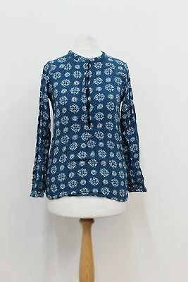 ZADIG & VOLTAIRE Girls Blue Floral Long Sleeved Printed Top Blouse 12 Years
