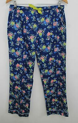 MARKS & SPENCER Girls Navy Blue Yellow Floral Pyjama Bottoms 15-16 Years