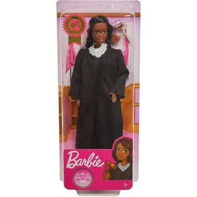 New 2019 Barbie Career of the Year Judge Doll with Dark Brown Hair