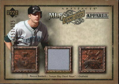 2006 Artifacts MLB Game-Used Apparel #RB Rocco Baldelli Jsy /325