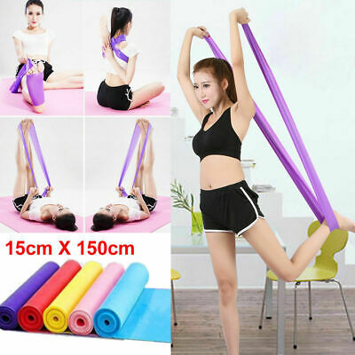 UK Yoga Exercise Elastic Resistance Bands Pilates Stretch Straps Physio Gym