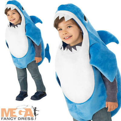 Daddy Shark Boys Fancy Dress Baby Sea Animal Song Character Kids Toddler Costume