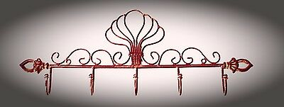 Wardrobe Wrought Iron Braun Fine Chiselled in style of the 30er Vintage