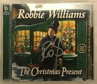 Robbie Williams A Christmas Present Cd Brand New And Signed
