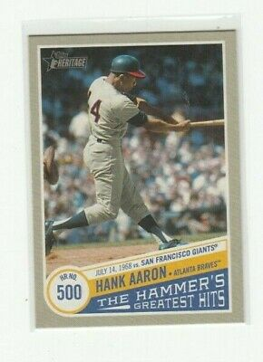 2019 Topps Heritage High Number Hank Aaron The Hammer's Greatest Hits #8