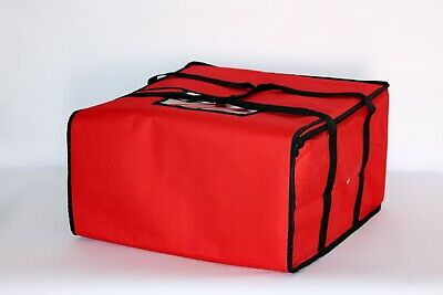 """Pizza Delivery Bags Thick Insulated (Holds up to Five 16"""" or Four 18"""" Pizzas)Red"""