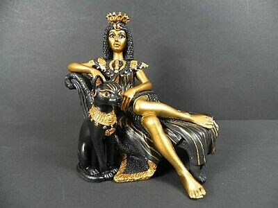 Cleopatra Bastet Egypt, 4 11/16in, New, Collector's Figurine Poly,