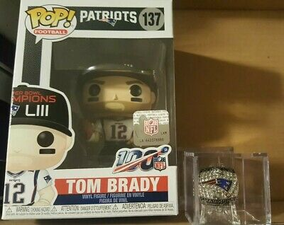 Funko Pop NFL Super Bowl Champions Patriots Tom Brady w/Super Bowl Ring